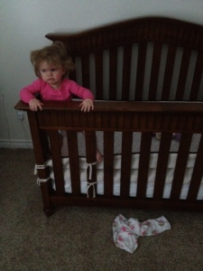 She started off wearing those pants when we put her to bed. And she wasn't nearly as pissed off.
