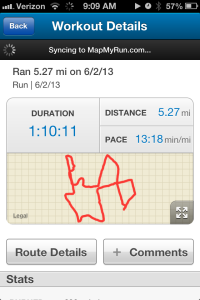 My first 5 mi run!