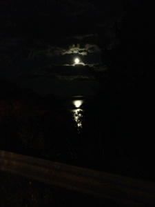 Harvest Moon over the Penobscot Bay