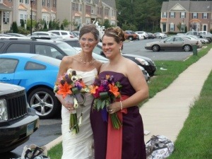 K and I on her wedding day