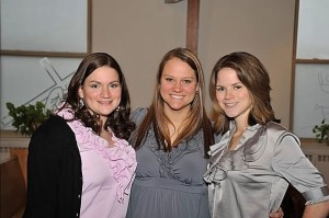 R, J, and I at my wedding