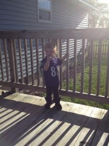 I mean, I'm raising a Mini Ravens Fan. Obviously I'm doing it right